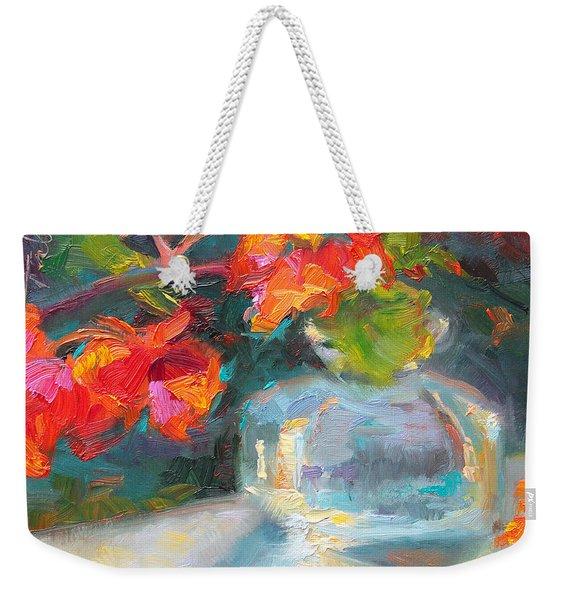 Gleaning Light Nasturtium Still Life Weekender Tote Bag
