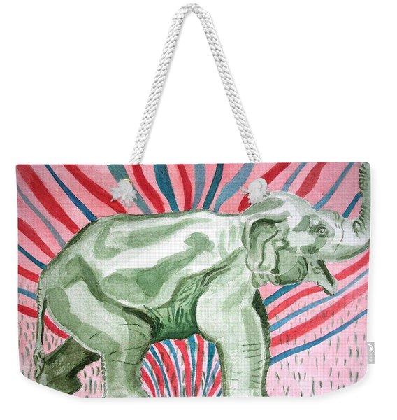 Gleeful Elephant Weekender Tote Bag