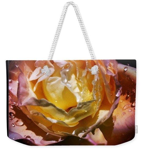 Glistening Rose Weekender Tote Bag
