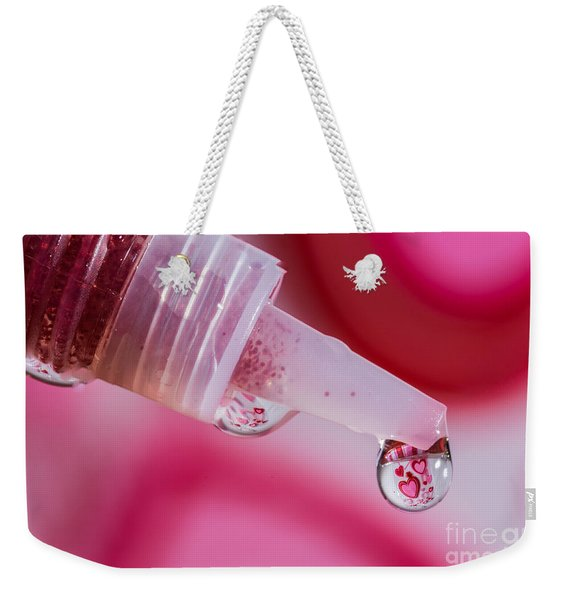 Glitter Love Drop Weekender Tote Bag