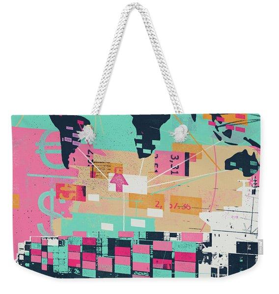 Global Trade Collage Weekender Tote Bag