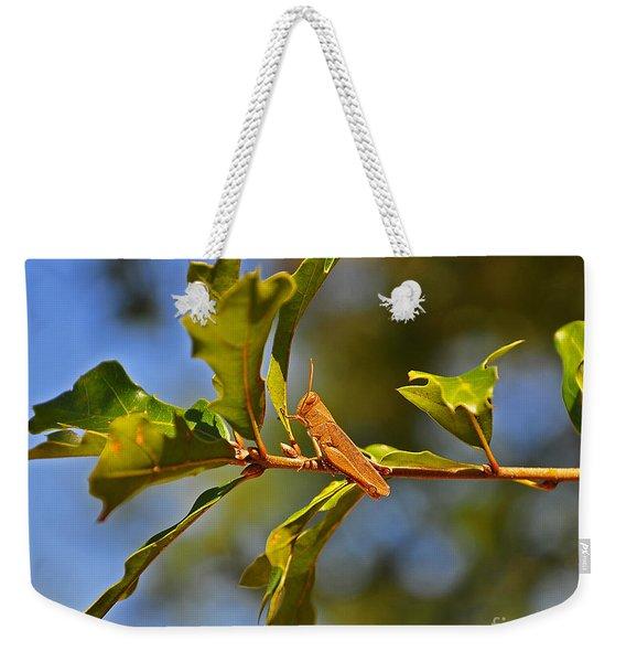 Glorious Grasshopper Weekender Tote Bag