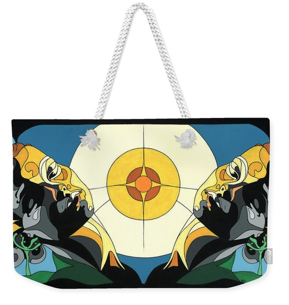 Glow Of Beauty - Painting With Hidden Pictures Weekender Tote Bag