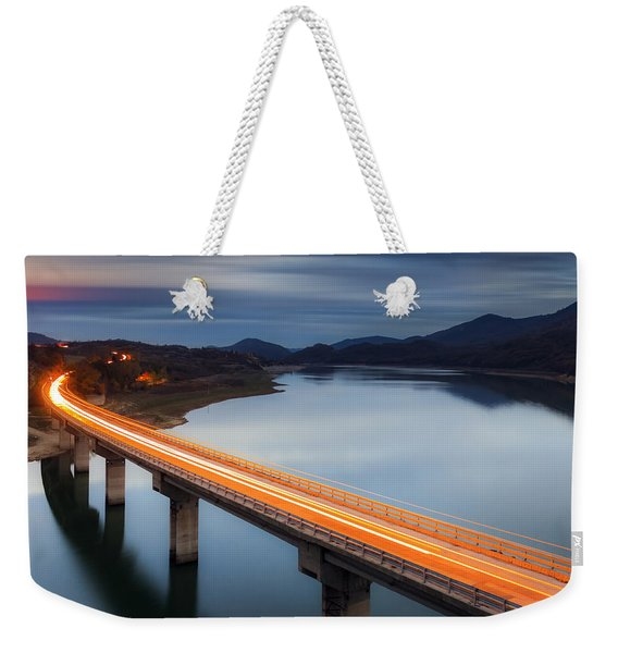 Glowing Bridge Weekender Tote Bag