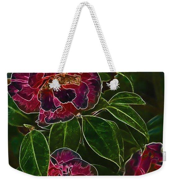 Glowing Camellia Weekender Tote Bag