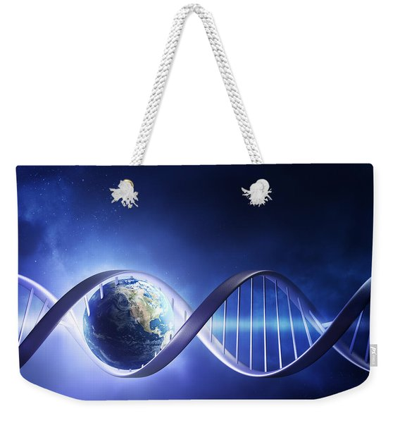 Glowing Earth Dna Strand Weekender Tote Bag