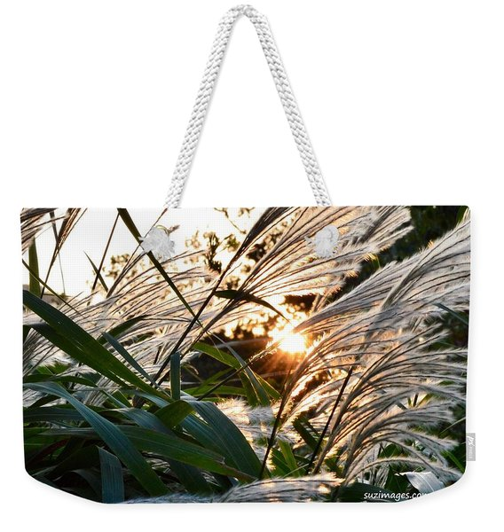 Glowing Pampas Weekender Tote Bag