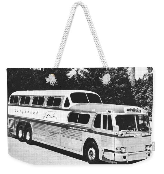 Gm's Latest Bus Line Weekender Tote Bag