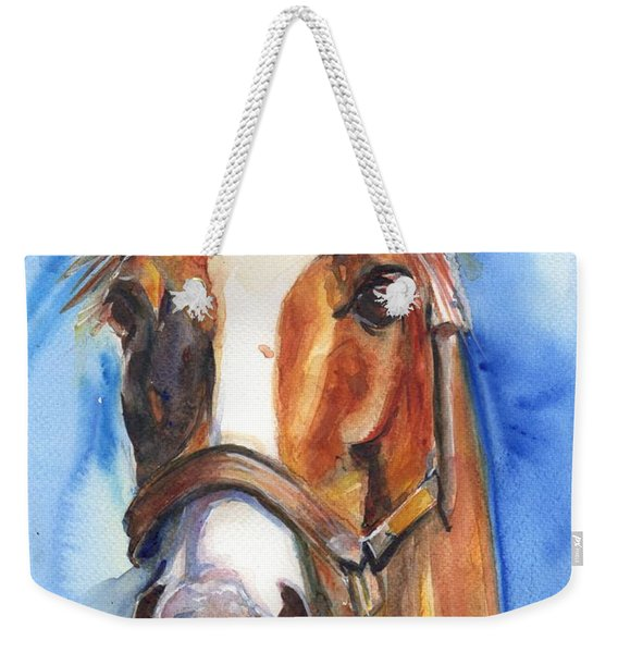 Horse Painting Of California Chrome Go Chrome Weekender Tote Bag