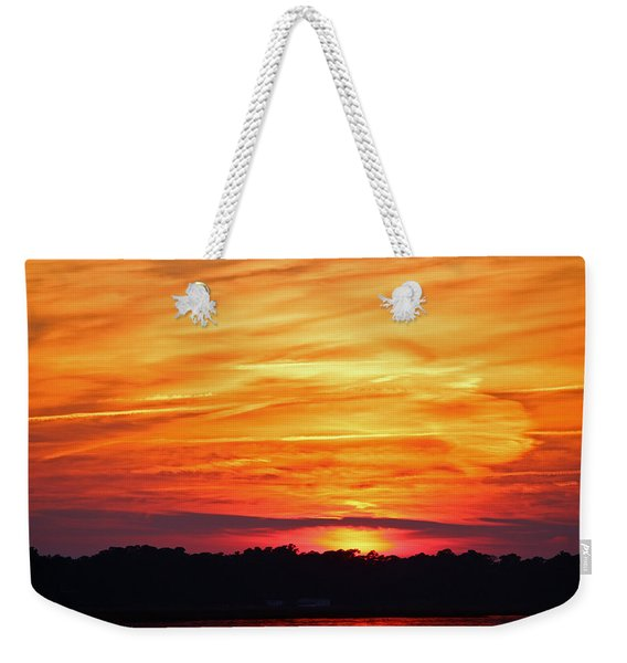 God Paints The Sky Weekender Tote Bag
