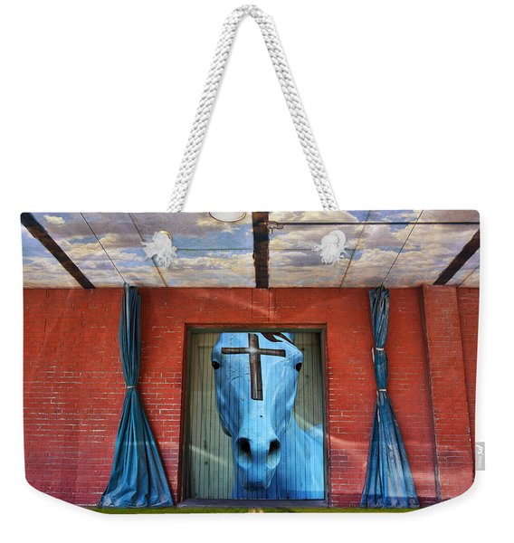 Weekender Tote Bag featuring the photograph Godhead by Skip Hunt