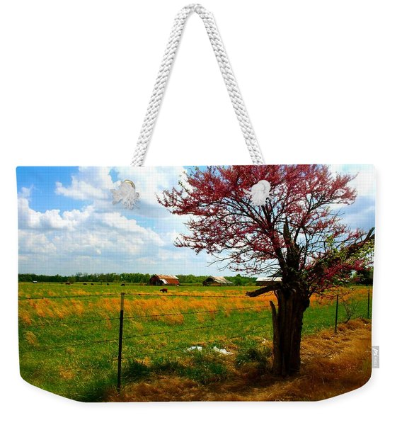 Gods Country   Commerce Miami Oklahoma Weekender Tote Bag