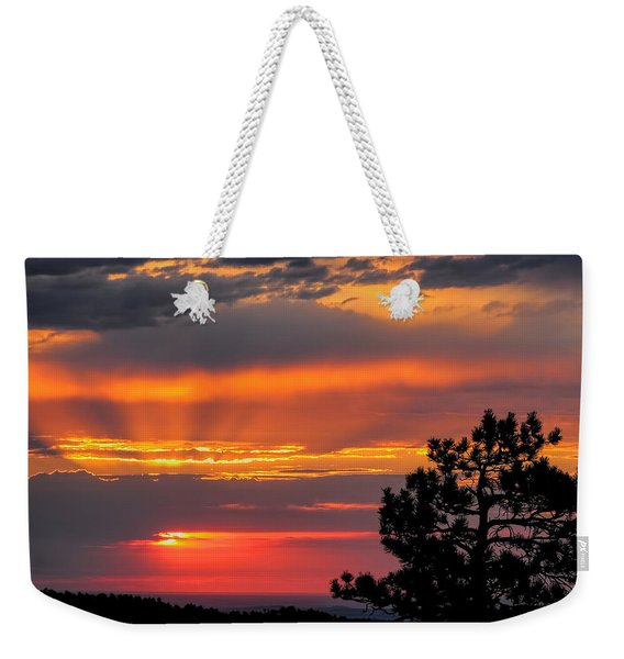 God's Spotlight Over Keystone Weekender Tote Bag