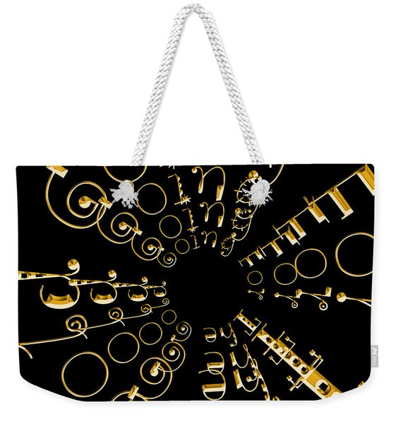 Going For The Gold 2 Weekender Tote Bag