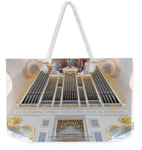 Gold And Blue Pipes Weekender Tote Bag