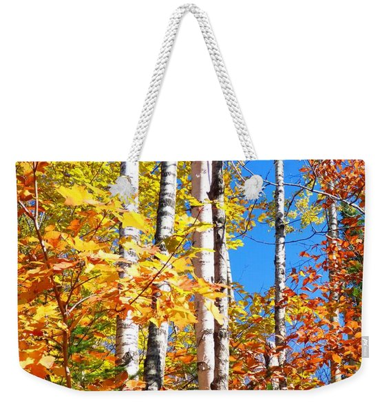 Gold Autumn Weekender Tote Bag