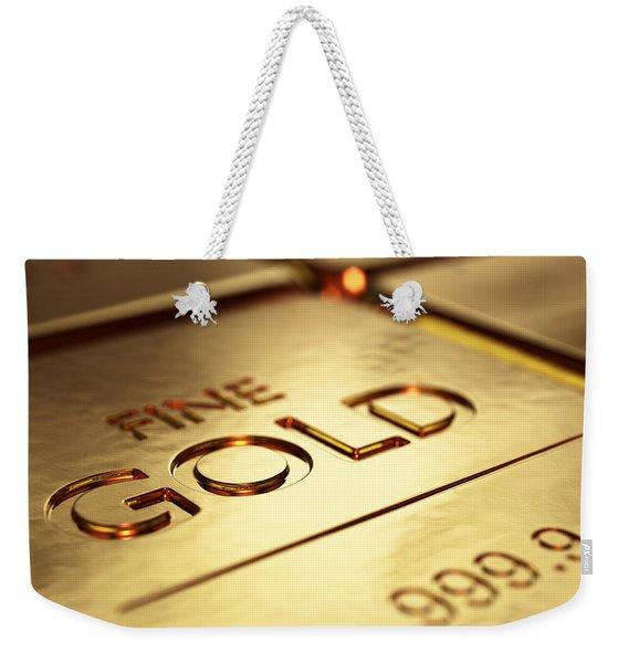 Gold Bars Close-up Weekender Tote Bag