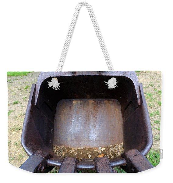 Gold Mining Steam Shovel Bucket Close-up Weekender Tote Bag