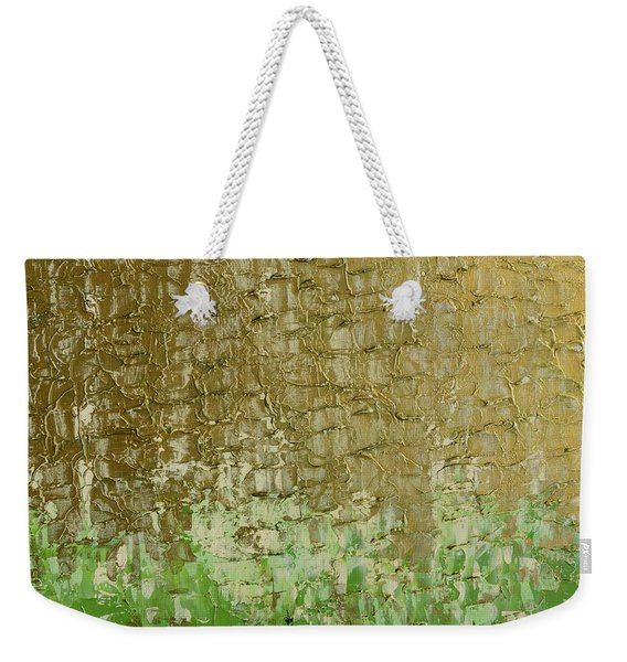 Gold Sky Green Grass Weekender Tote Bag