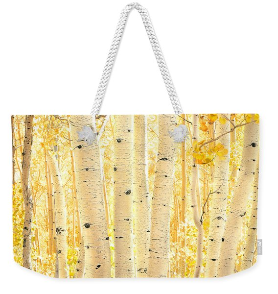 Golden Aspens Utah Weekender Tote Bag