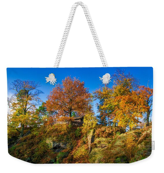 Golden Autumn On Neurathen Castle Weekender Tote Bag