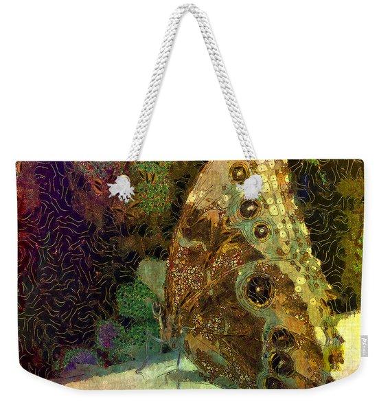 Golden Butterfly Weekender Tote Bag