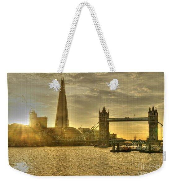 Golden City Weekender Tote Bag