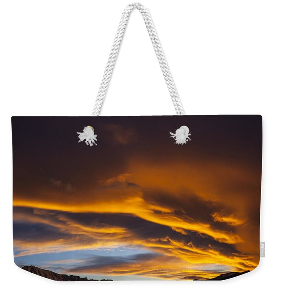 Golden Clouds Over Sierras Weekender Tote Bag
