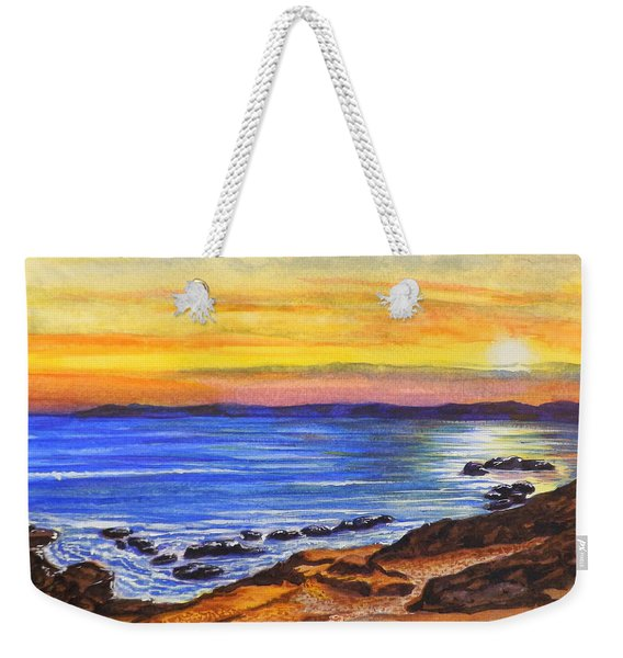 Golden Cove Weekender Tote Bag