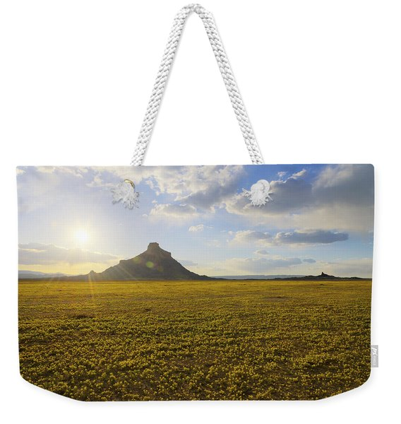 Golden Desert Weekender Tote Bag