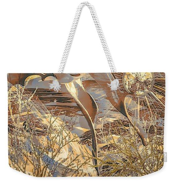 Weekender Tote Bag featuring the digital art Golden Dream by Eleni Mac Synodinos