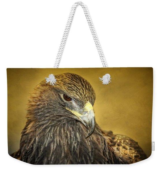 Golden Eagle Portrait Weekender Tote Bag