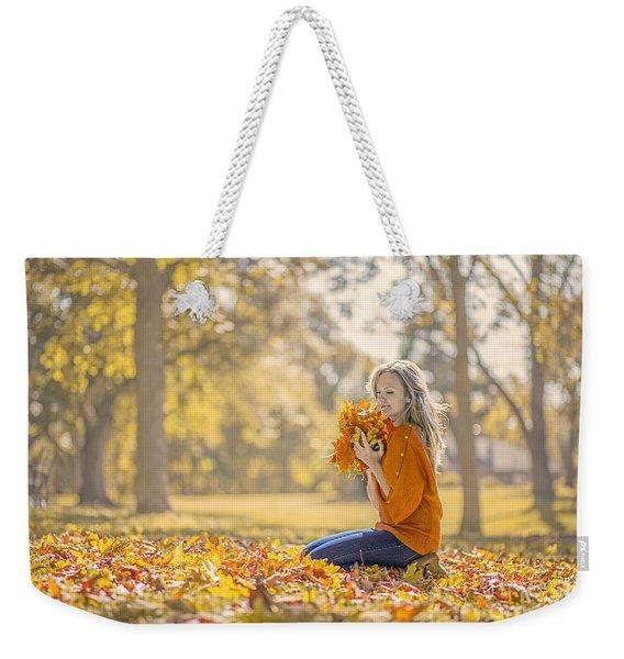 Golden Fall Weekender Tote Bag