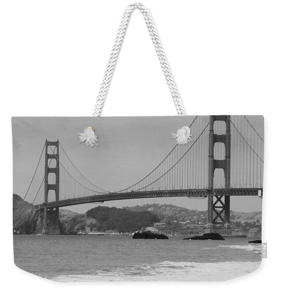 Golden Gate Bridge And Beach Weekender Tote Bag