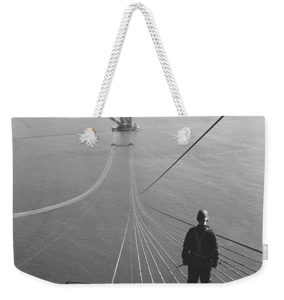 Golden Gate Bridge Cables Weekender Tote Bag