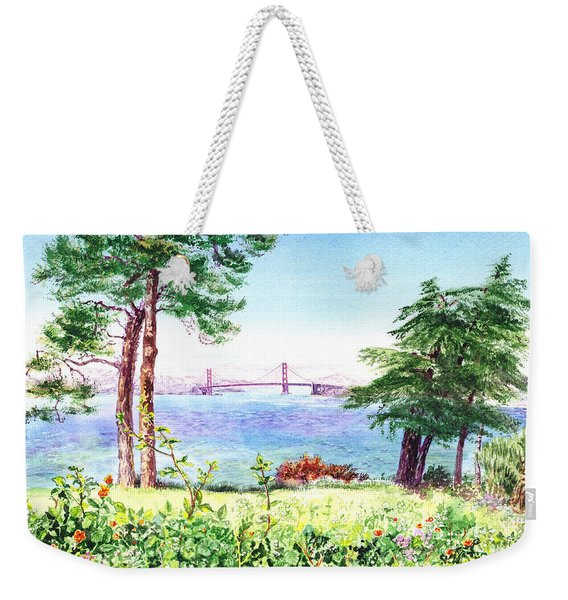 Golden Gate Bridge View From Lincoln Park San Francisco Weekender Tote Bag