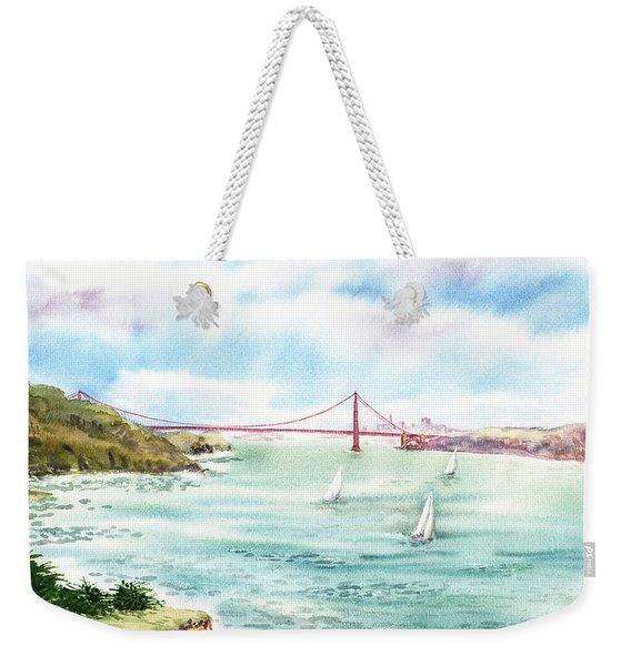 Golden Gate Bridge View From Point Bonita Weekender Tote Bag