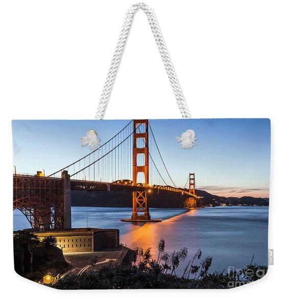 Golden Gate Night Weekender Tote Bag