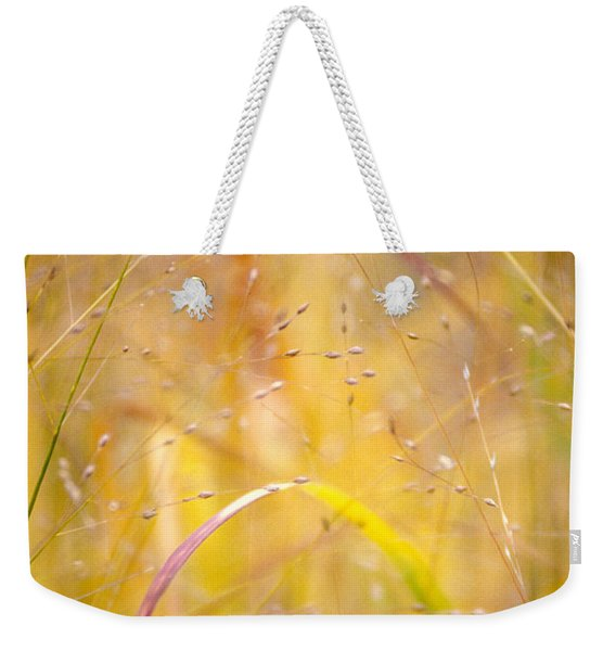 Golden Grass Weekender Tote Bag