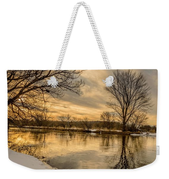 Weekender Tote Bag featuring the photograph Golden Light by Garvin Hunter