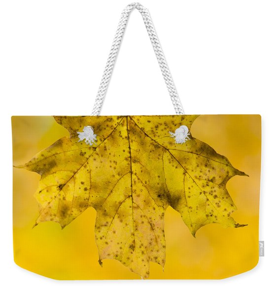 Golden Maple Leaf Weekender Tote Bag