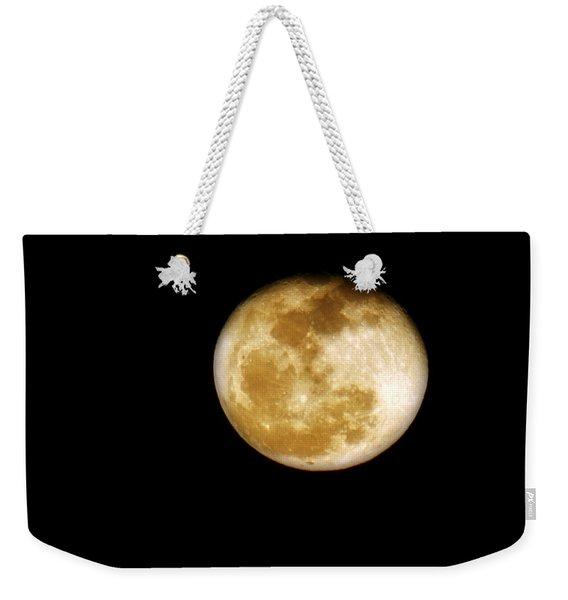 Golden Moon Weekender Tote Bag