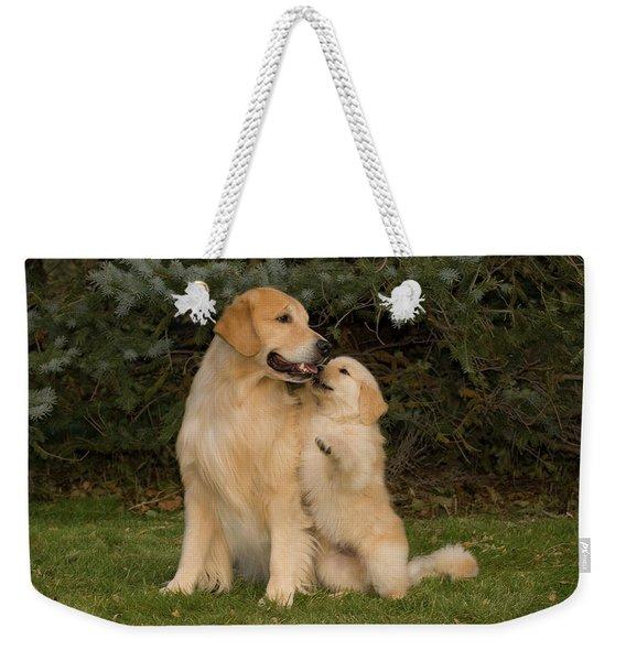 Golden Retriever Puppy Standing Weekender Tote Bag
