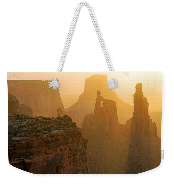 Golden Spires Weekender Tote Bag
