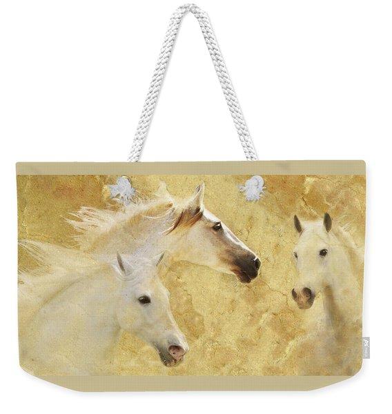 Golden Steeds Weekender Tote Bag