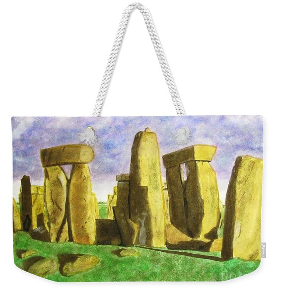 Golden Stonehenge Weekender Tote Bag