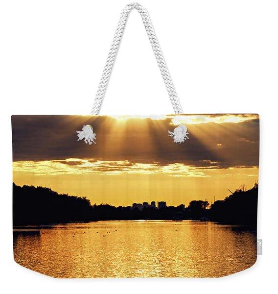 Golden Sunrays Weekender Tote Bag