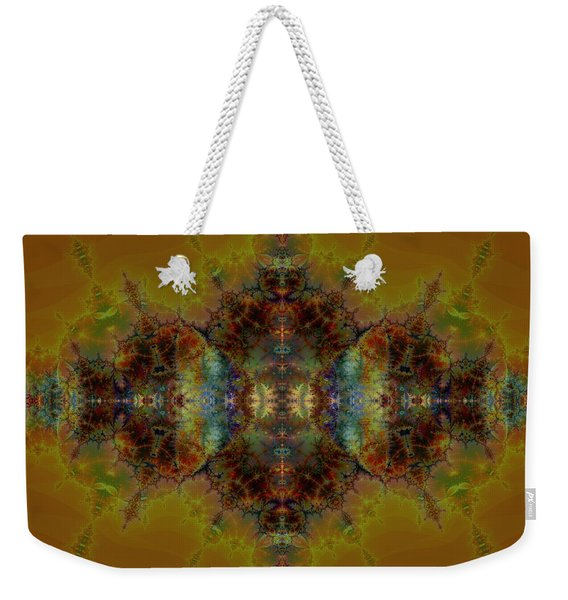 Golden Tapestry Weekender Tote Bag