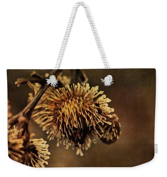 Golden Thistle Weekender Tote Bag