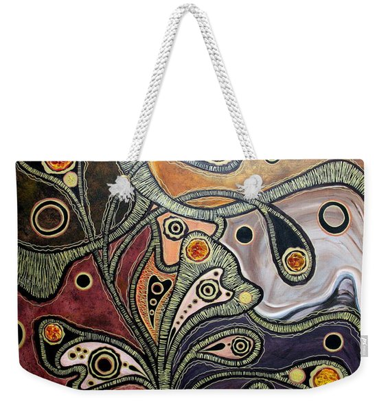 Golden Thought Weekender Tote Bag